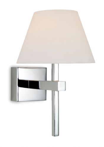 Firstlight 8639CH Chrome with Opal Glass Fabio Wall Light